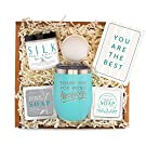 Thank You Gifts For Women - Best Relaxing Spa Gift Box Basket for Teacher Nurse Employee Boss Coworker Secretary Volunteer Friend - Bath Set w/Tumbler - Gifts Basket Care Package Encouragement for Her
