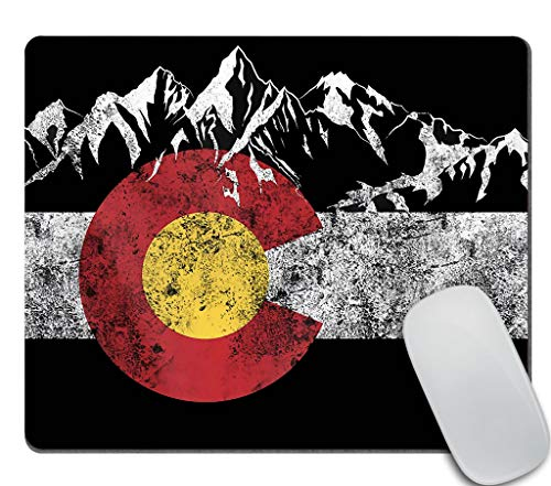 Amcove Gaming Mouse Pad - The State of Colorado Flag Rectangle Mouse pad 9.5 X 7.9 Inch (240mmX200mmX3mm)
