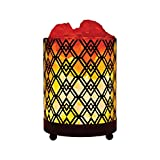 Himalayan Glass Salt Lamp with Dimmer Cord & Bulb