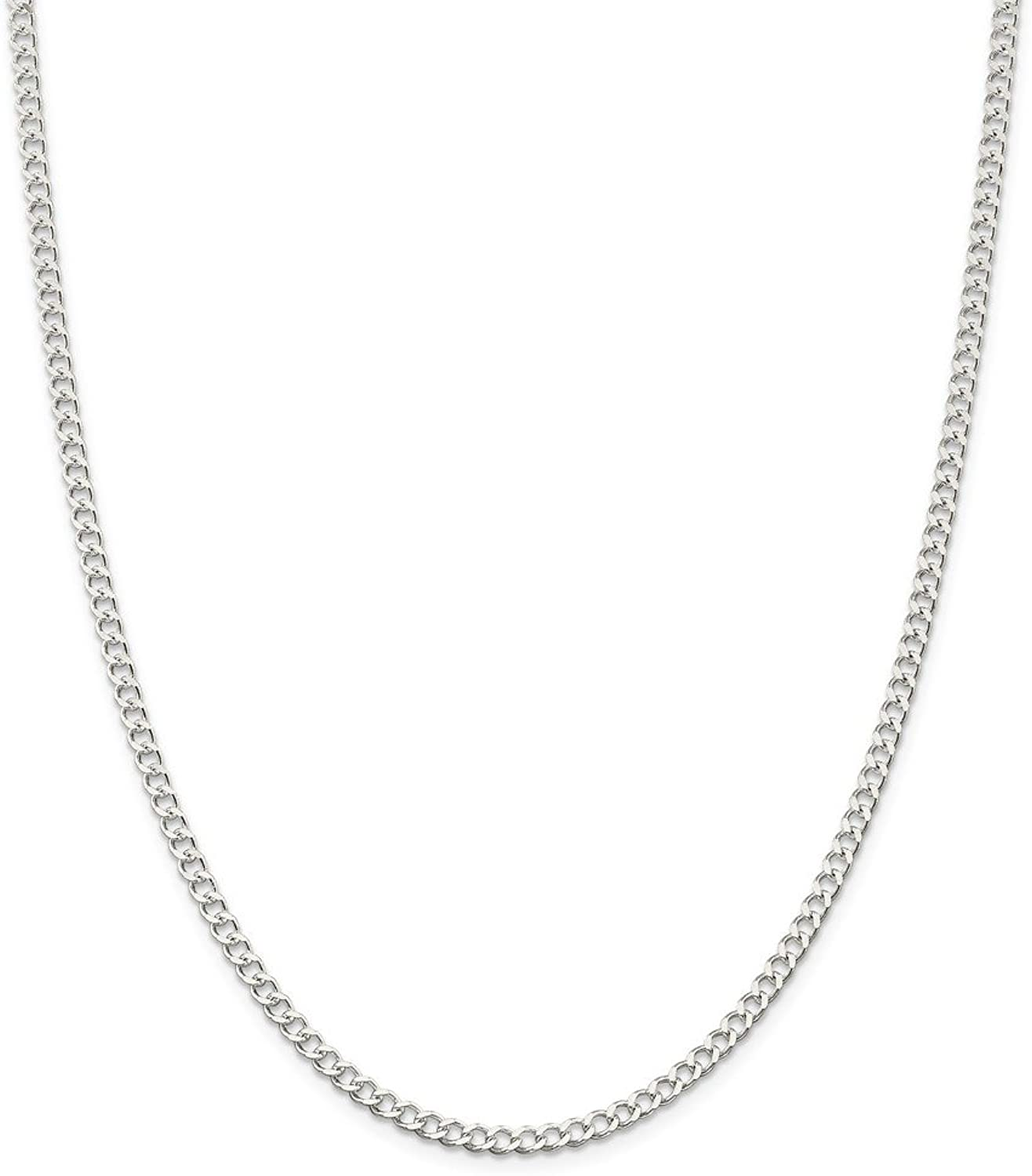 Beautiful Sterling silver 925 sterling Sterling Silver 3.65mm Wide Curb Chain