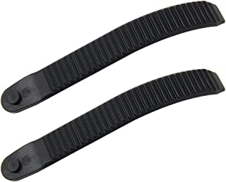 UP100® 2PCS Snowboard Binding Toe Ratchet Ankle Tongue Ladder Straps Black Plastic 6.3 inch