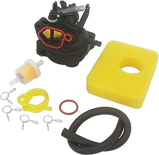 KIPA Carburetor Air Filter Maintenance kit for Briggs & Stratton 799584 Fit Yard Machines Snapper Toro Troy-Bilt B110 Husqvarna LC 121P Lawn Mower Mower with 09P702 9P702 550EX Series Engines
