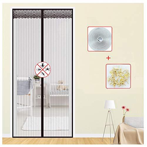 WMWJDQ Magnetische vliegengaas, voor balkondeur, muggennet, eenvoudige montage zonder boren, voor woonkamer, terrasdeur