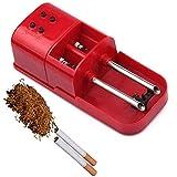 QZH Fabricante de cigarrillos eléctricos, inyector de tabaco rodante, fácil máquina de rellenar cigarrillos, regalo de cumpleaños de padre y maestro, rojo