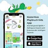 Playbrush Smart Sonic, smarte elektrische Schallzahnbürste für Kinder mit interaktiver Spiele-App (Blau) - 2