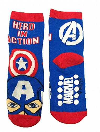 Suncity Calcetines antideslizantes de Los Vengadores Avengers Cap.América talla 31/34