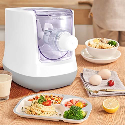 4YANG Electric Pasta Maker Automatische Nudelmaschine mit LCD-Display, 13 Formen Intelligente Nudelmaschine, kann in 15 Minuten Spaghetti, Makkaroni und Knödelhaut herstellen