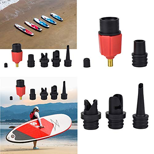 FreeLeben Adaptador de Válvula Bomba Aire, Remo de Tabla de Paletas Inflable Barco Stand Up Paddle Kayak Surf Accesorio Fit Coche/Bicicleta Tienda de Sofá Inflador de Aire