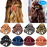 Hair Claw Clips 8 Colors, EAONE Stylish Jaw Clips Non Slip Hair Clip Clamps Styling Accessories Box Packaged for Mother's Day Gift Women Girls, 8 Pieces