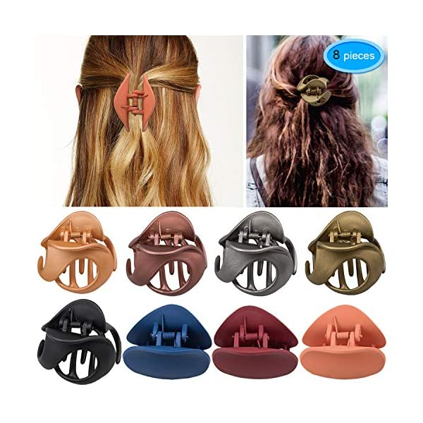 Beauty Shopping Hair Claw Clips 8 Colors, EAONE Stylish Jaw Clips Non Slip Hair Clip Clamps Styling