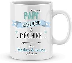 Mug PAPY à personnaliser avec votre prénom - Cadeau personnalisé fête des grands-pères - cadeau personnalisé papy pour Noël