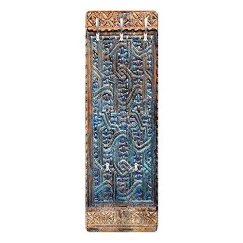 Bilderwelten Perchero Panel Mural Gancho De Pared - Door with Moroccan Carving 139 x 46cm