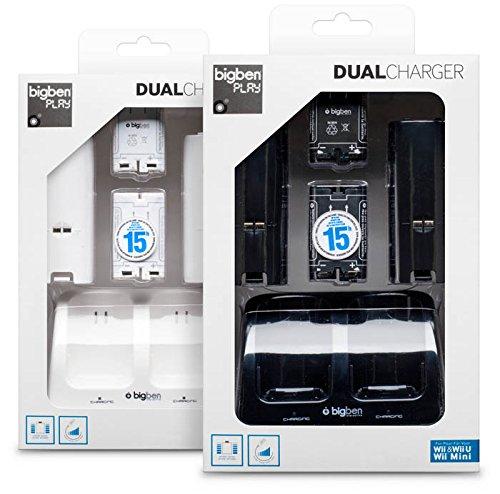 Wii / Wii U - Dual Charger Ladestation inkl. 2x 700 mAh Akkus und Batteriefachdeckel (farblich sortiert, Farbe nicht wählbar)