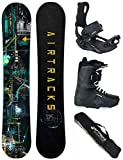 AIRTRACKS SNOWBOARD SET - PLANCHE DATA WIDE 155 - FIXATIONS MASTER - SOFTBOOTS SAVAGE...
