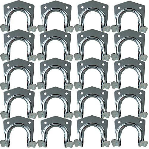 3-H Gerätehalter Doppelhaken - Für T-Griffe/Wandhalter/Werkzeughalter/Gartengeräte-Halter/Spatenhalter - inkl. Schrauben & Dübel (1)