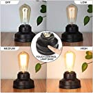 Boncoo Touch Control Table Lamp Vintage Desk Lamp Small Industrial Touch Light Bedside Dimmable Nightstand Lamp Steampunk Accent Light Edison Lamp Base Antique Night Light for Living Room Bedroom #2