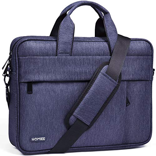 HOMIEE Laptop Shoulder Bag, Protective Laptop Bag for 15.6' MacBook Air, MacBook Pro Retina, MacBook Pro 2016-2019 with Hard Shell/Dell/HP/Acer Laptop, Waterproof Business Briefcases for Men & Women