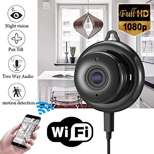 ERSD Intelligente HD drahtlose Kompaktkamera WIFI Netzwerk Handy Remote Infrarot Nachtsicht Überwachungskamera für Baby/Haustier/Kindermädchen Monitor