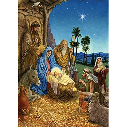 YEESAM ART Kit de pintura de diamante completo con broca de nacimiento, Jesús, 30 x 40 cm, para manualidades, pintura de diamante 5D, para decoración de pared y salón (Jesus)
