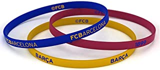 FC Barcelona Official Silicone Wristbands (Pack Of 3)