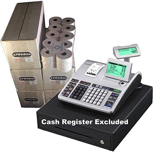eposbits® marca rollos para que se ajuste a Casio se-s400SES400SES se s S400400en efectivo Registro–100rollos