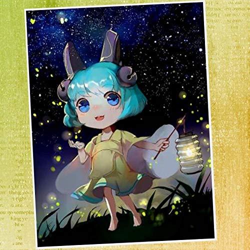 ATggqr Puzzle 1000 Pcs Cartoon girl 50x75cm Decompression Game Puzzle Family DIY Decompression Games Gift