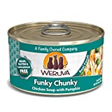 Weruva Classic Cat Food, Funky Chunky Chicken Soup With Chicken Breast & Pumpkin, 3Oz Can (Pack Of 24)