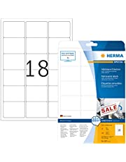Herma 4203 - Pack de 450 etiquetas, 63.5 x 46.6 mm, color blanco