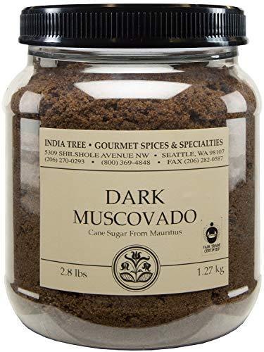 India Tree Dark Muscovado Sugar, 2.8 Pound