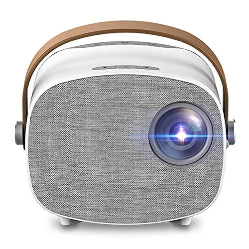 DYYAN Proyector WiFi, VideoProyector, Proyector Inalámbrico Compatible con Full HD 1080P, Mini Proyector De Video Compatible con Smartphone Tablet TV Stick HDMI VGA USB para Cine En Casa