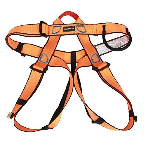 Cintura di Sicurezza per Esterni Corpo Roccia Arrampicata Professionale, imbracature Cinghie di Sicurezza per Protezioni anticaduta, Cinturino di Sicurezza per Soccorso in Caso di Alpinismo(Orange)
