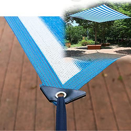 LKP Malla Sombreadora Permeable, Toldo Vela De Sombra para Exterior, Malla Lona De Sombra Transpirable para Jardín 2x8m 3x8m 4x8m 5x8m 6x8m 8x8m