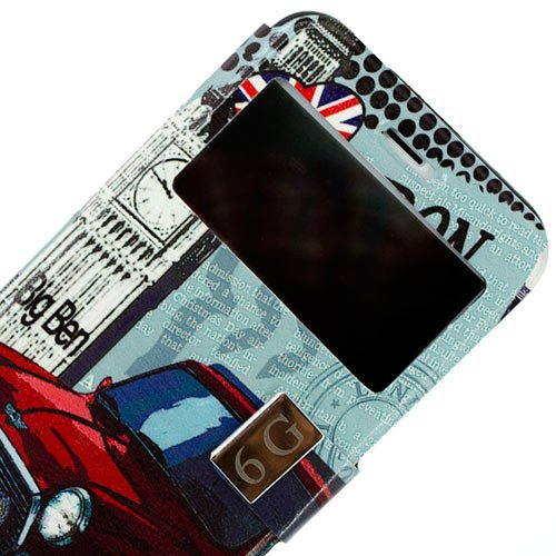 Vahalla Accesorios Funda para iPhone 6 Plus/iPhone 6s Plus Ventana Soporte Coche London