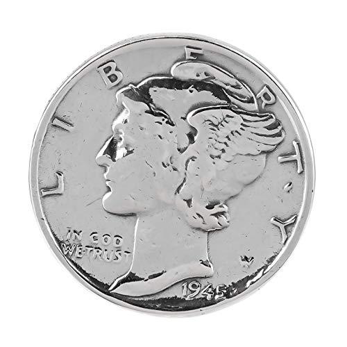 ジナブリング(JINA BRING) シルバーリング シルバー925 コイン マーキュリーダイム 硬貨 フリーサイズ #9〜#19 調節可能 #19
