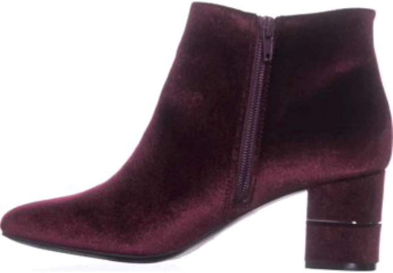 Alfani Womens Nickkif Closed Toe Ankle Fashion Boots, Mulberry Velvet, Size 9.0