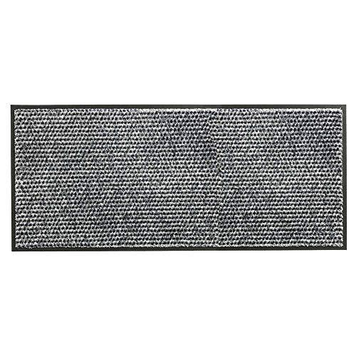 Schöner Wohnen Fussmatte Miami Punkte Silber 004 | 67x150 cm