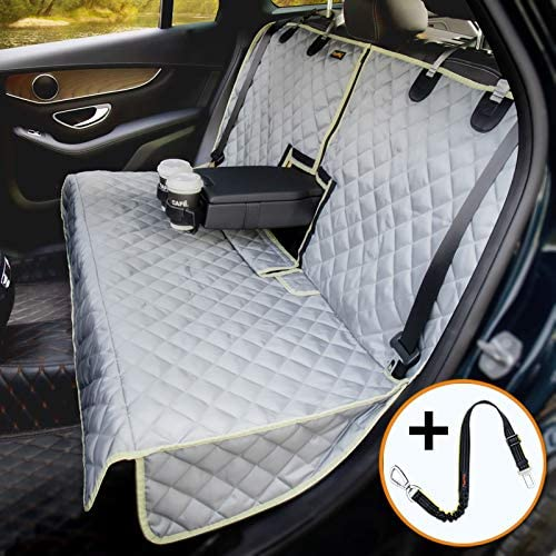 iBuddy Bench Dog Car Seat Cover for Car SUV Small Truck Waterproof Back Seat Cover Protector product image