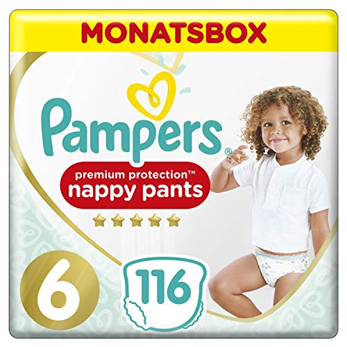 Pampers Premium Protection Pants, Gr. 6, 15kg+, Monatsbox (1 x 116 Pants)