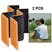 LFSHポータブル屋外防水パッド 2 PCSポータブル折り畳み式携帯セルラマッサージクッション屋外用ダンププルーフピクニックシートマットEVAパッド (色 : オレンジ)