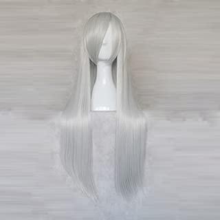 Vocaloid Yowane Haku Sliver White 80CM Long Cosplay Party Wig
