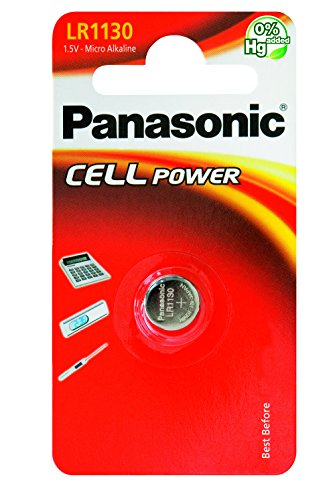 Panasonic Knopfzelle Alkali LR1130 (44 mAh, 1,5 Volt)