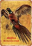 SRongmao 8 x 12 Tin Metal Sign - Vintage Look 1958 Western Winchester Pheasant...