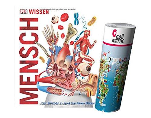 Buchspielbox Wissen - Mensch: Der Körper in spektakulären Bildern + Kinder Weltkarte Poster von Collectix, Entdeckungsreise durch den Körper