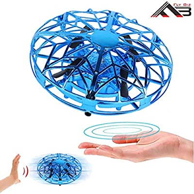 Flybiz Hand Controlled Flying Ball UFO Mini Drone, for 3-10 Year Old Boys Induction Aircraft, Kids Toys Hand Controlled Helicopter RC Quadcopter Infrared Induction Control Flying Toys Aircraft Games