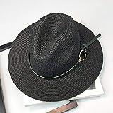 Sombreros De Paja Gorra De Mujer Sombreros para Mujer Sombrero para El Sol Cinturón De Cuero Floppy Beach...