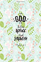 Psalm 46:1 God is our refuge and strength: Bible Verse Quote Cover Composition Notebook Portable