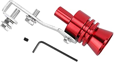 Exhaust Pipe Whistle, Red Aluminum Alloy Turbo Sound Whistle Muffler Exhaust Pipe Simulator Whistle Fit For Honda Accord Acura