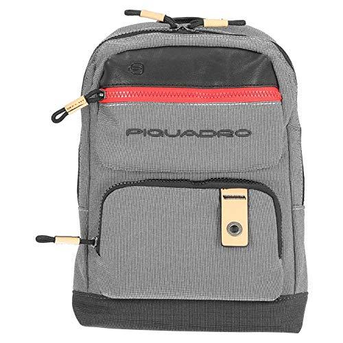 Piquadro Blade Sling Bag Gris Negro
