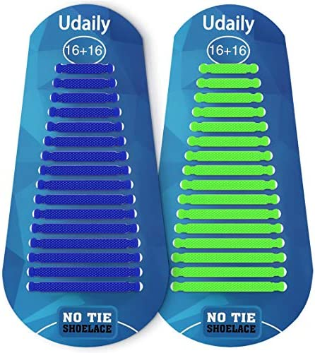 Udaily No Tie Shoelaces for Kids and Adults Elastic Silicone Shoe Laces for Sneaker product image