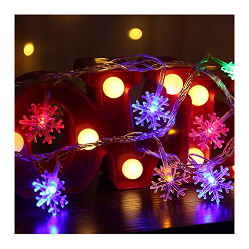 biondo beverly hills Snowflake Christmas String Lights 40 LED String Lights 6M/19.7ft Xmas Lights Waterproof for Outdoor Indoor Bedroom Decorations